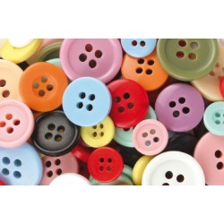 round plastic buttons - assorted colors - 300 pieces