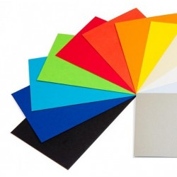 colored cards 130 gr / m² A4 (21 x 29,7 cm) - 10 assorted colors - pack of 100