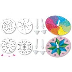 toupies à colorier - ø 7 cm - set de 4