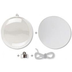 boule en plastique transparent 3 en 1 - ø 8 cm