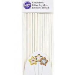 sticks - white - 20pcs - H 20.3 cm ø 6 mm - Wilton