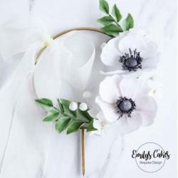 topper anneau en bois pour guirlande florale - ø 15cm - Sweet Stamp Amycakes