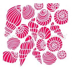 stencil seashells - Cookie Countess
