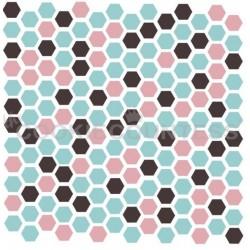 3 Piece hexagons stencil - Cookie Countess