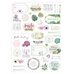 stickers La vie en rose - 78 pièces - de 1 à 5 cm