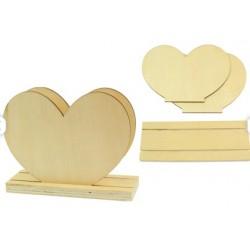 porte-courrier coeur en bois
