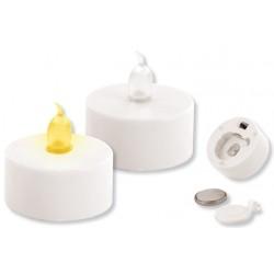 Bougie LED blanche Ø : 3,7 cm - 2 pièces