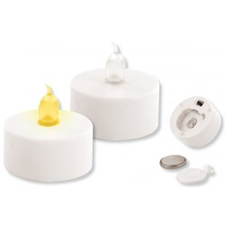 White LED candle Ø: 3,7 cm - 2 pieces