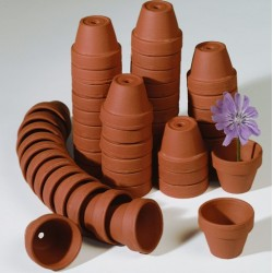 terracotta pot - Ø 8 cm x H 7 cm