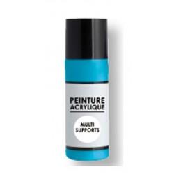 peinture acrylique multi-supports 80 ml - bleu clair