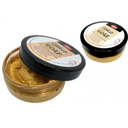pot of wax patina metallic effect - golden - 50g