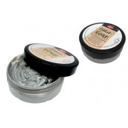 pot of wax patina metallic effect - silver - 50g