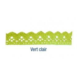ruban dentelle en coton auto-adhésif vert clair