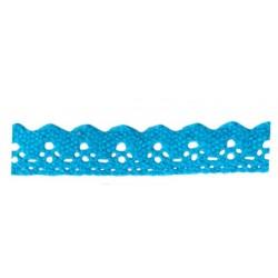 ruban dentelle en coton auto-adhésif bleu