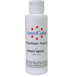 "Americolor colorant alimentaire concentré couleur ""bright white / blanc brillant"" 128g"