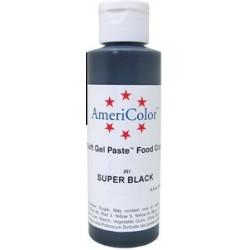 "Americolor concentrated edible coloring color ""super black"" 13.50oz"