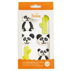 Décoration en sucre panda - 8p - Decora