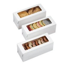 white rectangular box 20 x 8 x H 8 cm - 3 pieces - Wilton