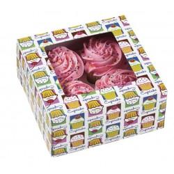"""boîte à 4 cupcakes & insert - """"cielo"""" - 3 pièces - Wilton"""