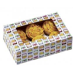 """boîte à 6 cupcakes & insert - """"cielo"""" - 2 pièces - Wilton"""