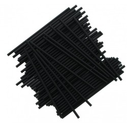 Pack 25 cake pop sticks - black - H 15 cm