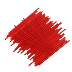 Pack 25 cake pop sticks - red - H 15 cm