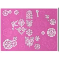Steampunk - 3D lace mat - Claire Bowman
