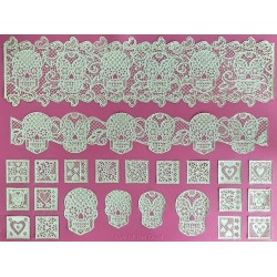 Day of the Dead - lace mat - Claire Bowman
