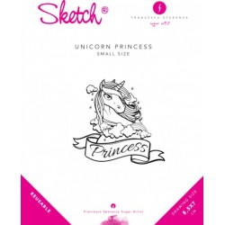 pochoir licorne princesse - 7 x 8.5cm - Francesca Speranza