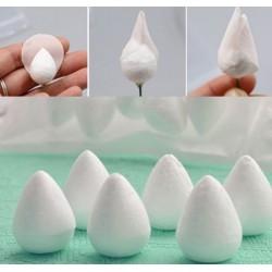 20 polystyrene rose bases - 3,5 x 2.5 cm