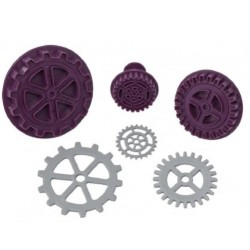 Steampunk Gear Plunger Cutter Set Of 3 - Black Cherry