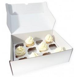 boîte à 24 cupcakes & insert - blanc