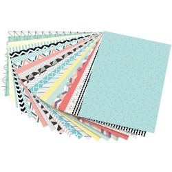 "set 20 strong cards trend ""geometry"" - 270 gr / m² - 24 x 34 cm"