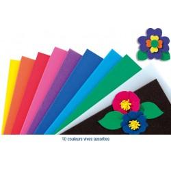 10 plaques en caoutchouc mousse - couleurs vives