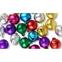 grelots couleurs assorties - ø 1 cm - set de 30 pièces