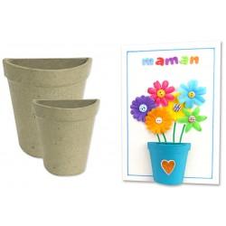 demi-pot en carton papier maché - ø 7,5 cm - Ht 8 cm