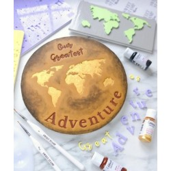 embosser Great Adventure World Map Elements - Sweet Stamp Amycakes