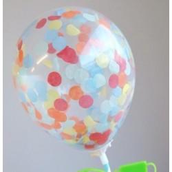 mini ballon confetti - festival mix - 2 pièces