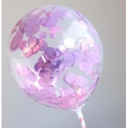 mini confetti balloons - pink metallic - 2pk