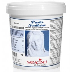 pâte de chocolat Sculpting Paste - blanc 1kg - Saracino