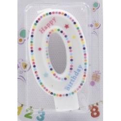 Bougie Happy Birthday numéro O