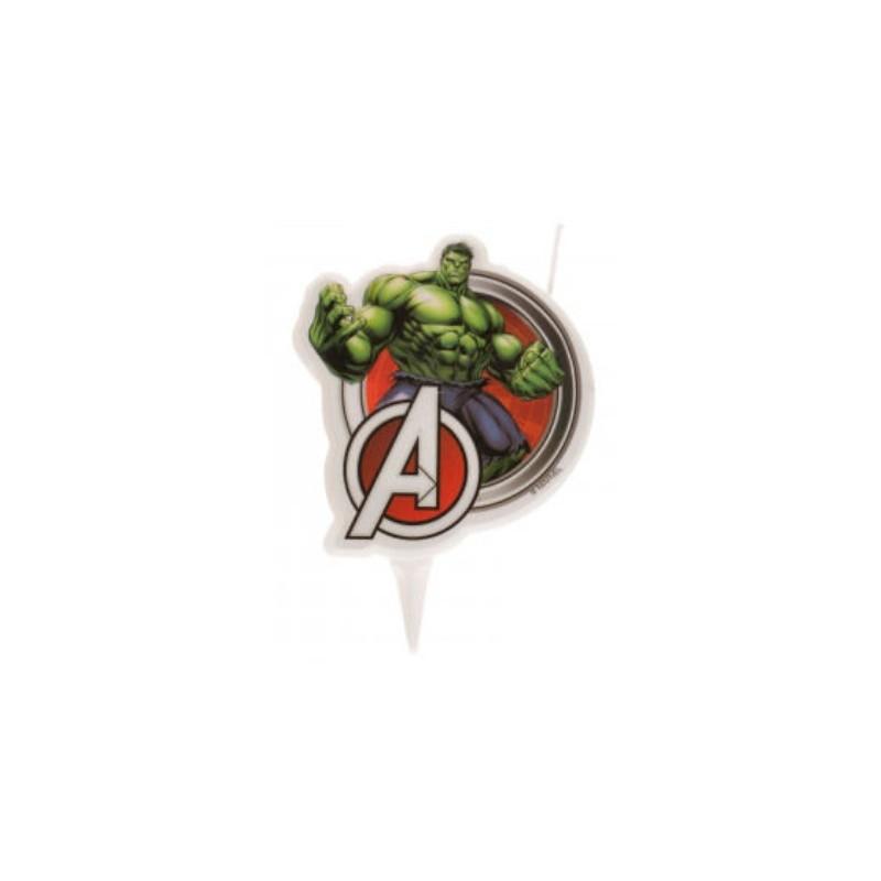 bougie Avengers Hulk - 2D - 7.50 cm