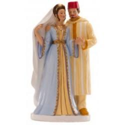 figurine couple de mariés - oriental - 18cm