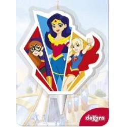 bougie super héros filles - 2D - 7.50 cm