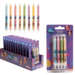 8 bougies Mickey & Cie - 9 cm