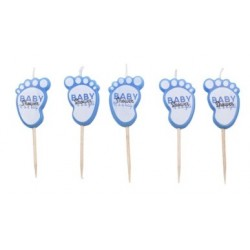 blue feet candles x 5