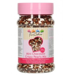 mini chocolate crispy pearls mix - 175g - Funcakes