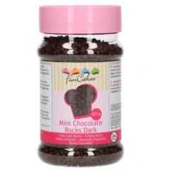 mini rochers en chocolat - noir - 225g - Funcakes