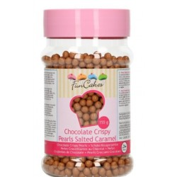 mini perles croustillantes chocolat - caramel salé - 155g - Funcakes