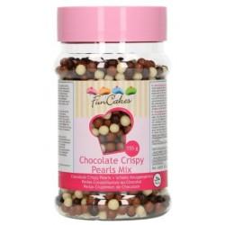 perles croustillantes chocolat - mix - 155g - Funcakes